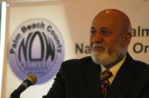 ALcee Hastings with NOW logo