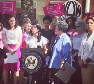 Stand with Planned Parenthood--Rep. Lois Frankel, Pres. Arlene Ustin