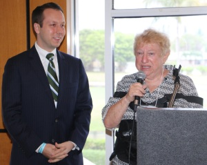 Honored Femnist Rep. Dave Kerner and Board Treasurer Shirley Herman