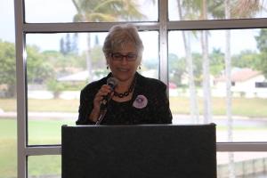 PBC NOW President Arlene Ustin